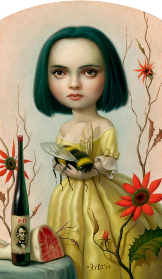 Chica con abeja.