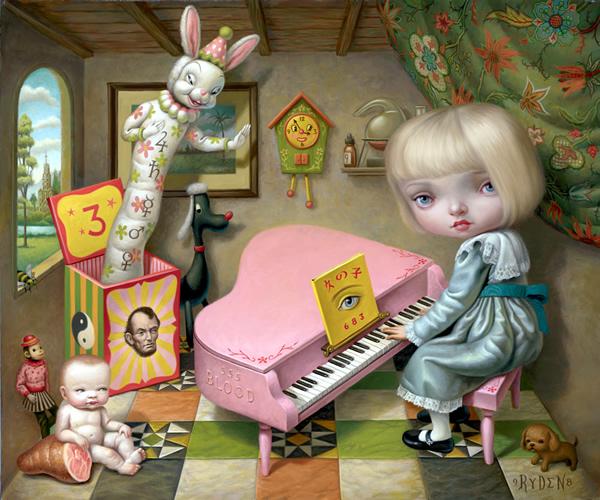 Casa de muñecas por dentro.