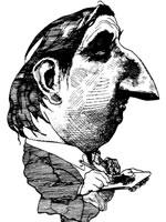 Autorretrato satírico de Levine.