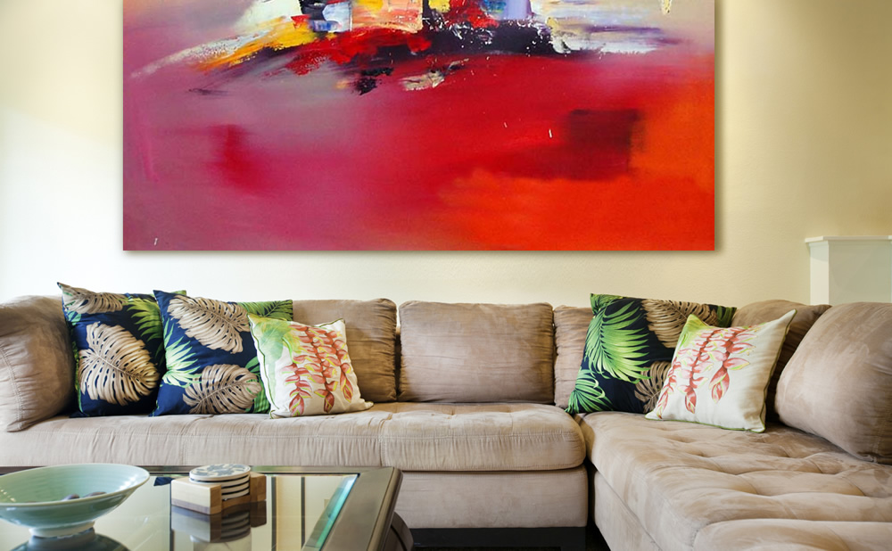 Pinturas abstractas cuadros para interiorismo con color for Fotos de cuadros abstracto