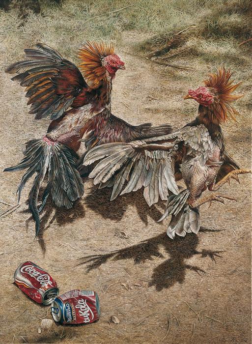 Dibujo campestre, colección de cuadros a tinta de Fuster.