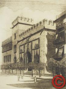 Grabado de la lonja cuadro del edificio valenciano - Cuadros modernos valencia ...