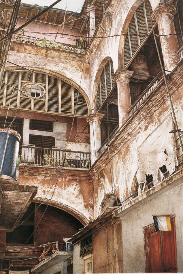 Cuadro habana vieja litograf a de arquitectura cubana for Arquitectura de hoteles