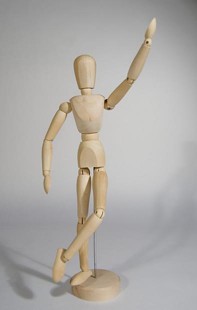 Maniqu de madera articulado modelo para dibujo anat mico for Modelos de zapateros en madera
