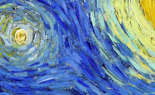 Textura del óleo sobre el lienzo.