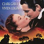 poster con Clark Gable y Vivien Leigh.