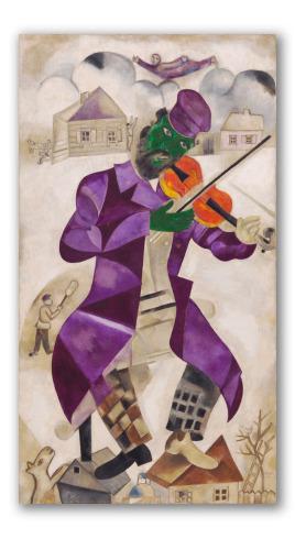 """Pintura """"El violinista verde"""""""