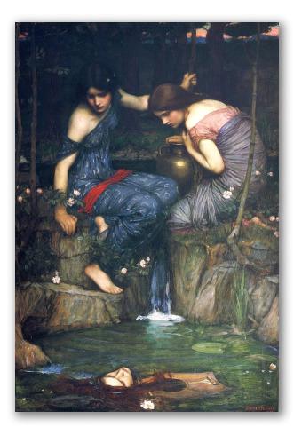 Ninfas Encuentran la Cabeza de Orfeo