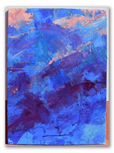 """Pintura """"Descomposición de cielo"""" de Teresa Infiesta"""