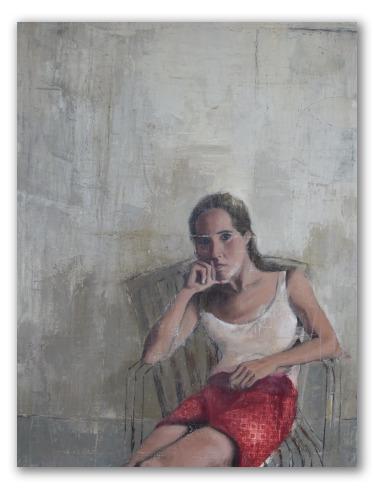 """Obra """"La espera"""" pintura sobre lienzo"""