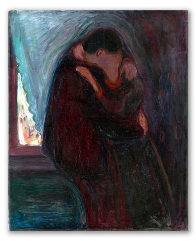 """Obra """"El beso"""" de E. Munch"""