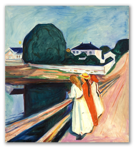 """""""Las Chicas en el Puente"""" de Edvard Munch"""