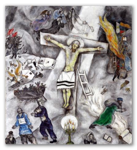 """Cuadro """"Crucifixión blanca"""""""