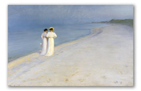 """Tarde de Verano en la Playa de Skagen"" de Krøyer"
