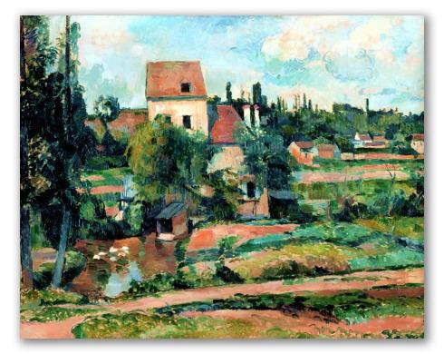"Pintura ""Molino Couleuvre en Pontoise"""