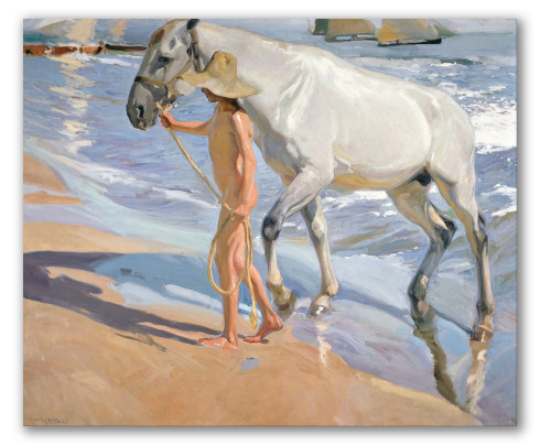 El baño del caballo