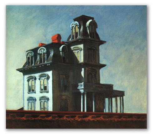 Casa en la Vía del Tren - Edward Hopper