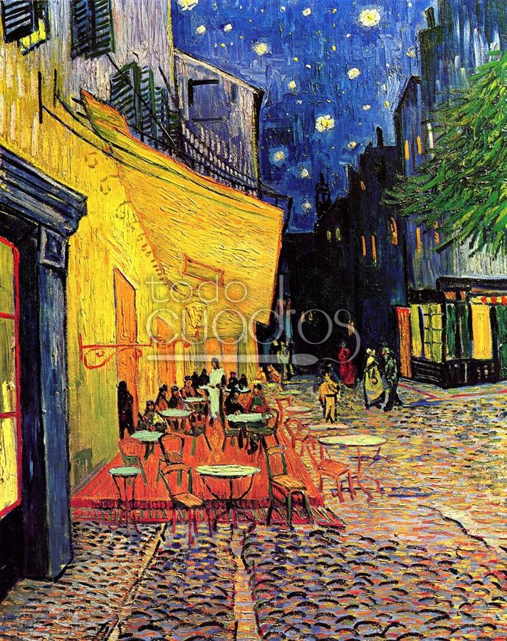 Terraza de caf por la noche de van gogh cuadro famoso al leo - Decor art quadri bari ...