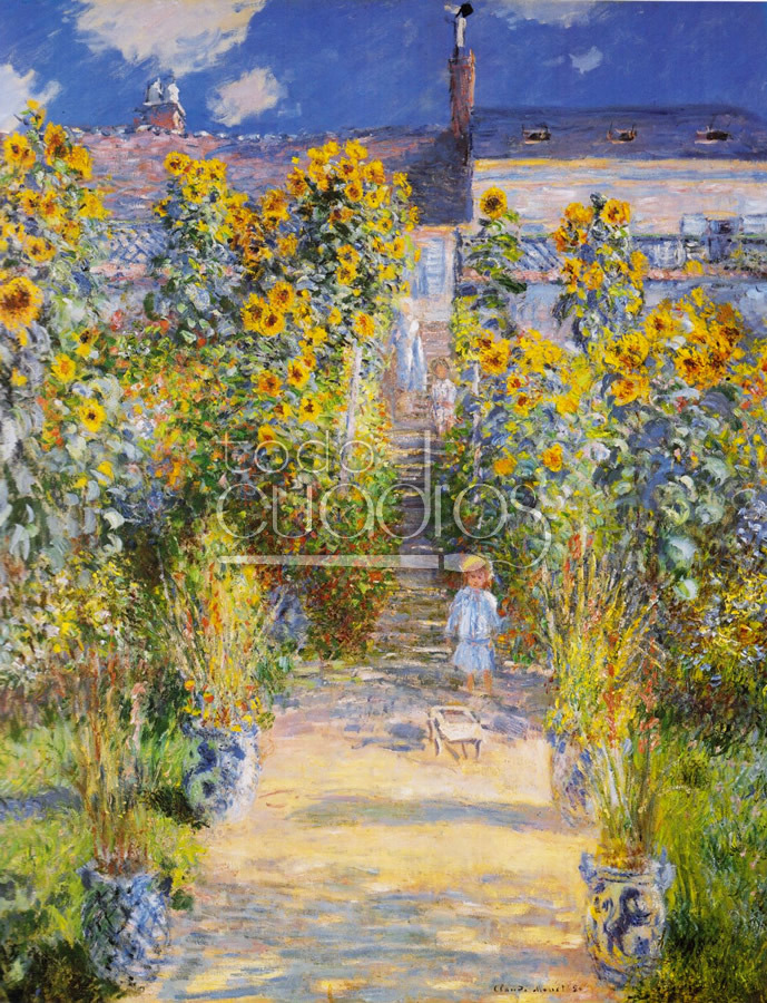 Jard n de monet en vetheuil cuadro en national gallery of for Jardines de monet