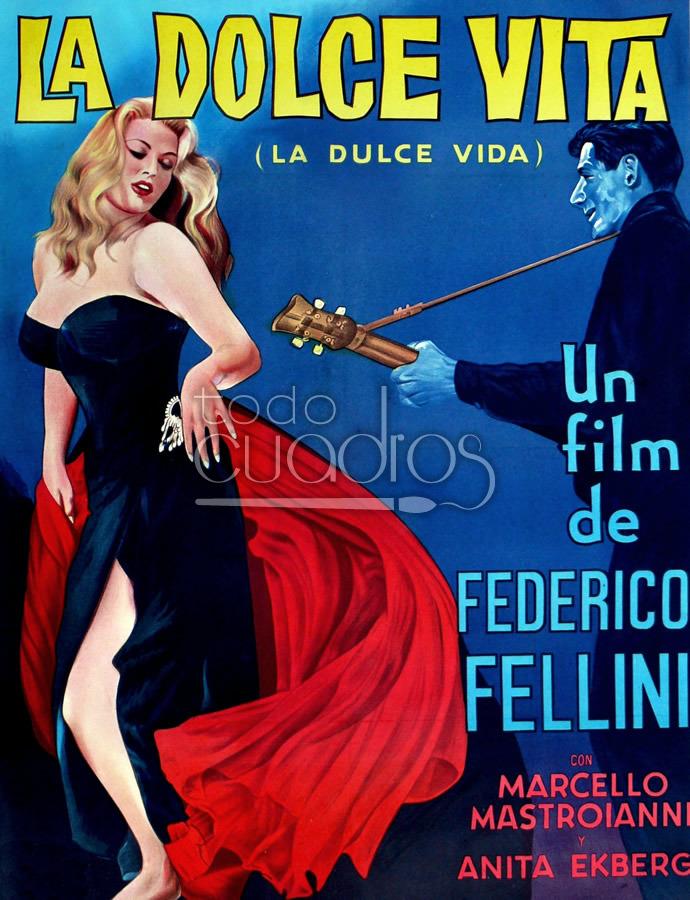 cuadro de la dolce vita leo del film de fellini. Black Bedroom Furniture Sets. Home Design Ideas
