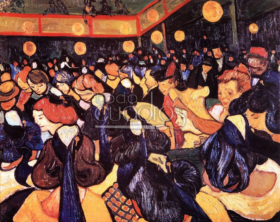 El sal n de baile en arles de van gogh cuadro destacado for Salon arles