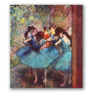 Bailarinas de azul