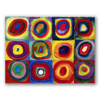 Estudio de color con cuadrados