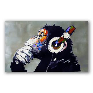 Chimpancé con música