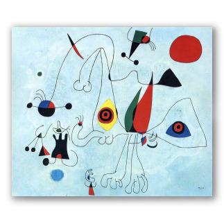 Mujer y Pájaros al Amanecer - Miró