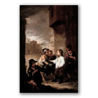 Santo Tomás de Villanueva niño repartiendo sus ropas