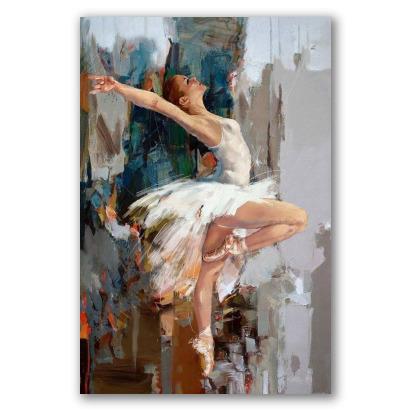 Bailarina prima dona, sobre abstracto
